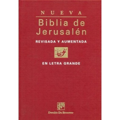 Nueva Biblia de Jerusalén, letra grande