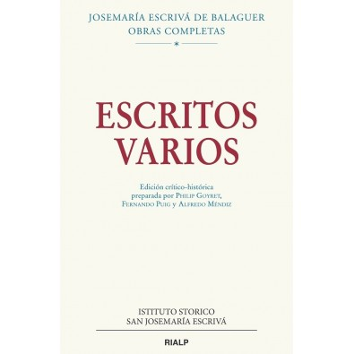 Escritos varios (1927-1974). Edición crítico-histórica