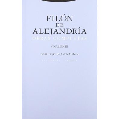 Filón de Alejandría Obras Completas. Vol. III
