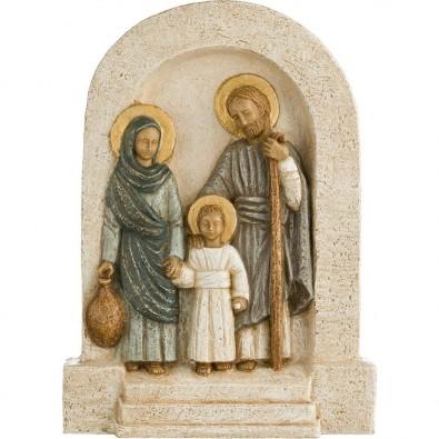 Bajo relieve Sagrada Familia azul celeste