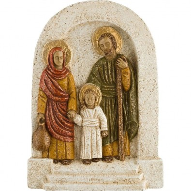 Bajo relieve Sagrada Familia blanco ocre
