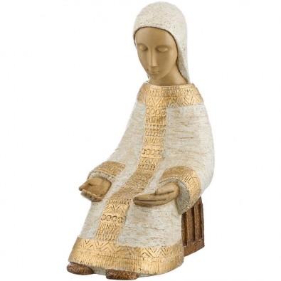 Virgen Paysanne blanco dorado