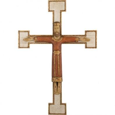 Cristo Sacerdote rojo con cruz blanca 33 cm.