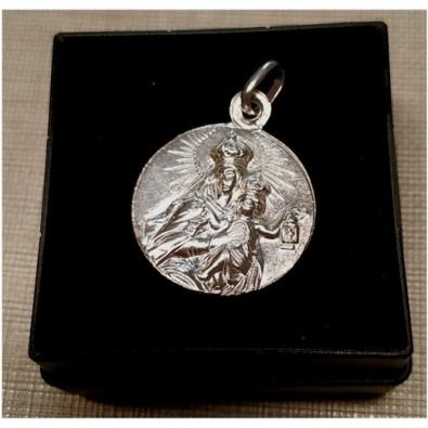 Medalla Escapulario Virgen del Carmen de Plata de Ley 20 mm