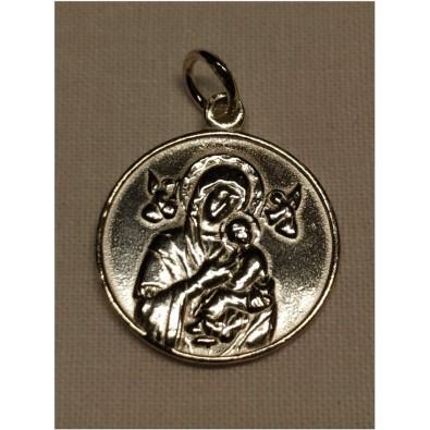Medalla Virgen Perpetuo Socorro de Plata de Ley grande