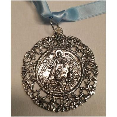 Medallón de cuna con Ángel Plata