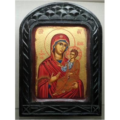 Icono pintado Virgen con Niño