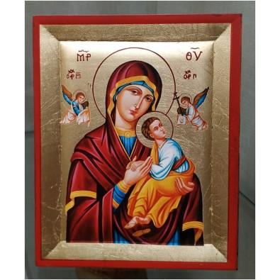 Cuadro pan de oro Virgen Perpetuo Socorro