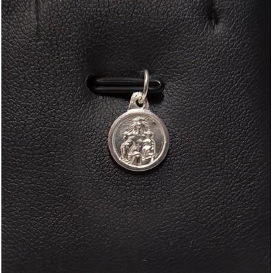 Medalla Escapulario Virgen del Carmen pequeña de Plata de Ley