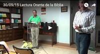 Video Lectura orante de la Biblia