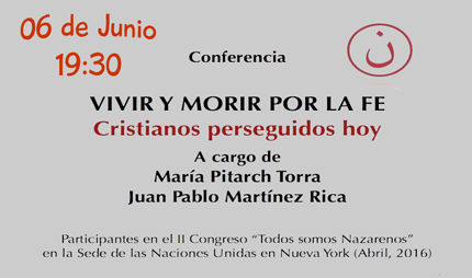 Conferencia Vivir y morir por la fe